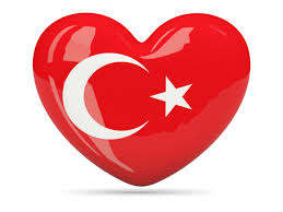 Turkey heart flag